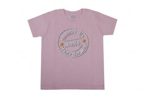 Fun T-Shirt Große M 134-140 Ich habe die beste Mama der Welt Mädchen Funshirt