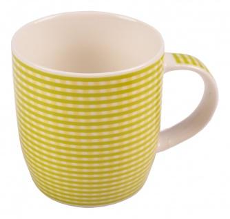 Kaffeetassen kariert aus Porzellan 375ml Kaffeebecher Kaffeetasse Teetasse Tasse - Vorschau 4