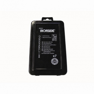 SDS-Bohrersatz 7-teilig in Metall-Box, geeignet für Stein, 3xSDS-Bohrer 110 mm (5-6-8 mm) + 4xSDS-Bohrer 160 mm (6-8-10-12 mm)