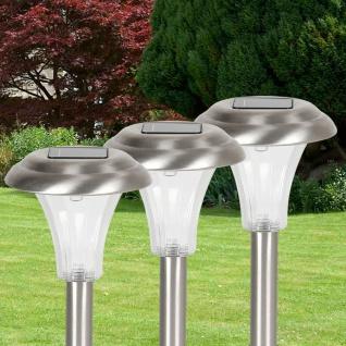 Edelstahl-Solarlampen 3er-Set