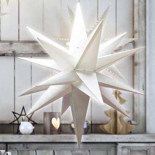 3D Weihnachtsstern 58cm Weihnachtsdeko Adventstern Leuchtstern Fensterdeko Stern