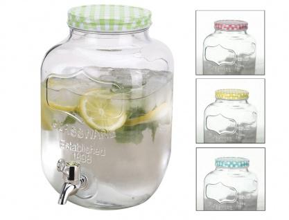 Getränkespender aus Glas 4L Getränkeportionierer Dispenser Saft Wasser Cocktail