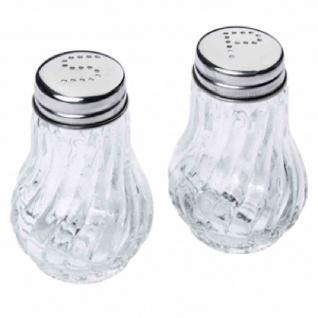 "Salz- + Pfeffer-Streuer-Set "" Berlin"" Glas, 2 x 50 ml"