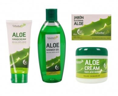 Tabaibaloe-Geschenk-Set Duschgel Face & Body Cream Handcreme Glycerin-Seife