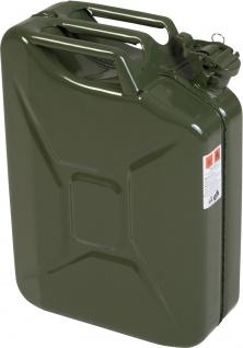 "hünersdorff KANISTER Kraftstoff-Kanister ,, CLASSIC"" 434701 Metall Gruen 20ltr"