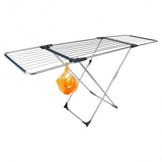 Flügel-Wäscheständer 20m klappbar +Klammerkorb Wäschetrockner Wäscheleine Metall