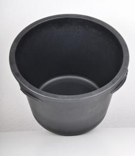 3x Mörtelkübel rund 90 Liter schwarz