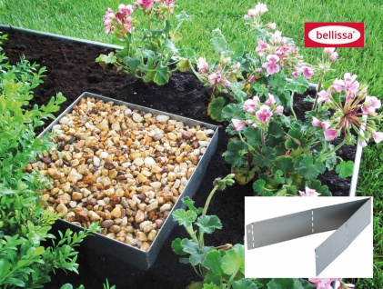 Bellissa Rasenkante Square verzinkt 50x50cm H20cm Beetumrandung Beeteinfassung