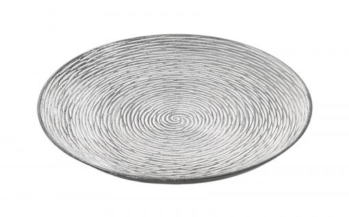 Holz-Dekoteller 39, 5cm Dekoschale Kerzenteller Holzschale Dekoteller Tischdeko
