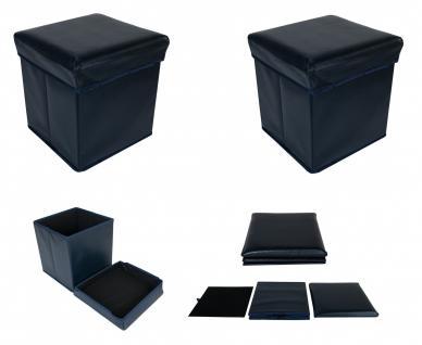 2x Faltbarer Sitzwürfel Aufbewahrungsbox Sitzhocker Sitzbank Fußbank Anthrazit