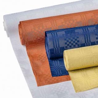 Papier-Tischdecke Goldica Swing Party 8x1m terracotta auf Rolle Einwegtischdecke
