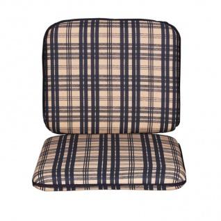Auflagen-Set Sitzpolster Sitzkissen Rückenkissen Sesselauflage Gartenstuhl