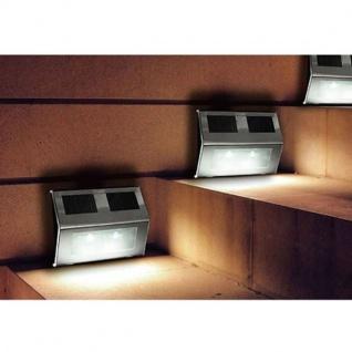 Solar Treppenstrahler 2er-Set Treppenlampe Stufenlicht Treppenbeleuchtung Garten - Vorschau 2
