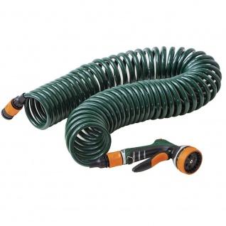 Spiralschlauchset 10m +Multifunktionsbrause Gartenschlauch Wasserschlauch TOP