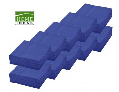 500 Servietten blau 33x33cm 3lagig 1/4 Falz Papierserviette Tischdeko Papiertuch