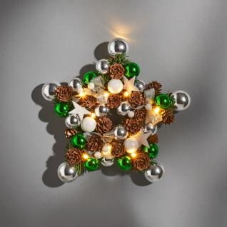 LED Weihnachts-Dekokranz Sternenform 28cm dekoriert Dekokranz Wanddeko Türdeko