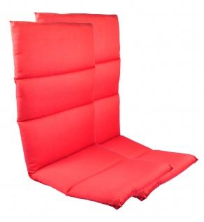 2 Rollstepp Hochlehner Polsterauflagen Sitzkissen Sesselauflage Auflage Garten