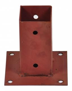 Aufschraubhülse 71x71x150mm Pfostenträger Pfostenschuh Holzpfosten Hülse braun