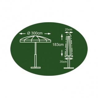 Abdeckhaube anthrazit für Sonnenschirm 183 x 25/35cm Schutzhülle Abdeckplane - Vorschau 2