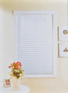 Plissee-Jalousie 100/120cm weiß gelb Sichtschutz Faltrollo Sonnenschutz Fenster