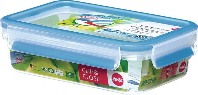 emsa Vorratsdosen 508539 Clip&close Ds.3d Pc.0, 8l