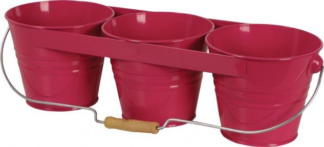 Siena Garden BLUMENTOPF Blumentopf-Set 722646 3er Pink 722646r - Vorschau