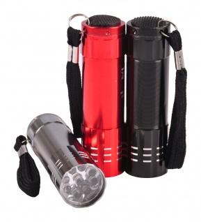 LED Mini-Taschenlampen 3er-Set 9 LEDs Taschenlampe Flashlight Wetter-resistent