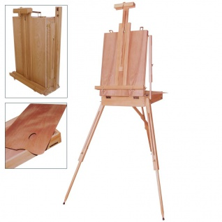 Kofferstaffelei 181cm mit Schublade Holzpalette Atelierstaffelei Feldstaffelei