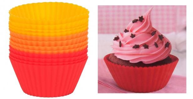Silikon-Muffinförmchen 12er-Set Backform Kuchenform Muffinform Cupcake Muffin