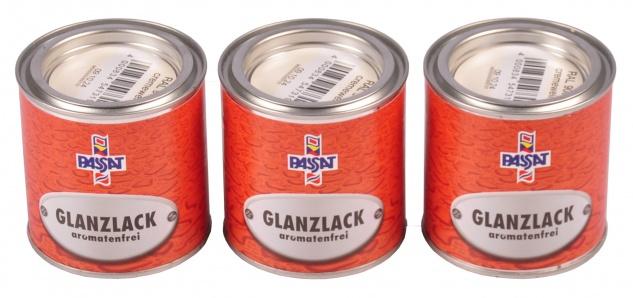 Passat Lack 3x 0, 25 L cremeweiß glänzend RAL 9001 Metall Holz Glanzlack Decklack
