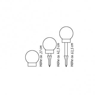 2er-Set LED-Solar-Kugelleuchte Kugellampe Leuchtkugel Solarlampe Lichtkugel - Vorschau 5
