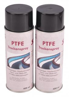 2x 400ml PTFE Trockenspray Trennmittel Gleitmittel fettfrei farblos bis +250 °C