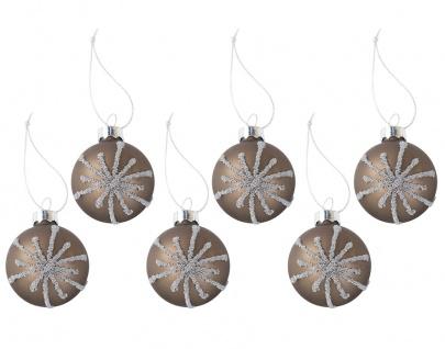 Glas-Weihnachtsbaumkugeln Perla 6er-Set Christbaumkugeln Tannenbaumschmuck 4cm