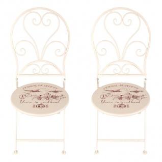 Vintage-Stühle London 2er-Set Gartenstühle Klappstühle Balkonstuhl Metallstuhl - Vorschau 2