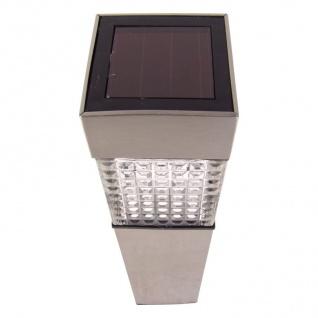 3x Solar Gartenwegeleuchte 27, 7cm LED Gartenlampe Solarleuchte Außenleuchte Deko - Vorschau 2