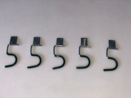 Gerätehalter 5Stk +Halteplatten Halterung Gartenhaus Werkstatt Garage Ordnung
