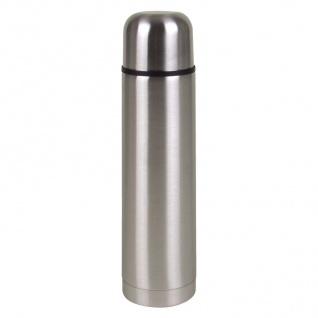 Edelstahl Isolierflasche + Trinkbecher 0, 75L Thermosflasche Thermoskanne Becher