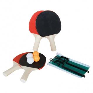 9-tlg.Tischtennis-Set Netz+Halterung Tischtennisball Holzschläger Tennisschläger