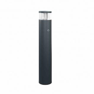ALVA LED-Pollerleuchte, 18W, 84LEDs, IP65, 3000K, 1150lm, anthrazit, Aluminium, Kunststoff transparent, mit Bewegungsmelder