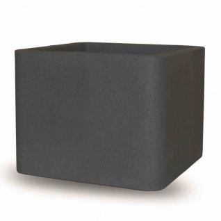 Cube 30cm schwarzgranit CubePflanzgefäße Pflanzkasten Blumentopf Balkon Terrasse