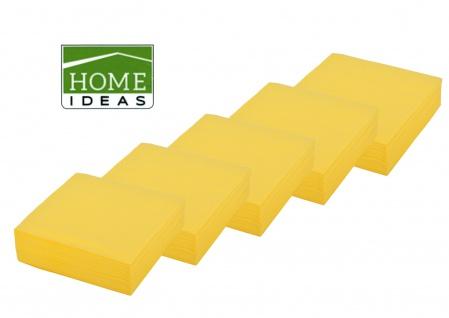 250 Servietten gelb 33x33cm 3lagig 1/4 Falz Papierserviette Tischdeko Papiertuch