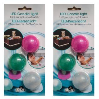 2 x 3 LED-Kerzenlicht Nachtlicht Dekolicht Leuchte Lampe Nachtlampe Beleuchtung