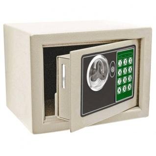 Mini Elektronik Safe 23x17x17cm Tresor Panzerschrank Wandsafe Geldkassette