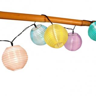 Solar-Lampion-Lichterkette 10 LED Partybeleuchtung Dekolicht Gartendeko warmweiß - Vorschau 2