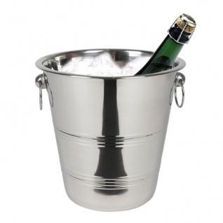 Edelstahl Sektkühler Sektkübel Weinkühler Flaschenkühler Eiseimer Champagner
