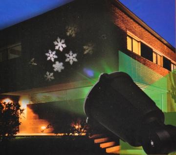 LED Fassadenstrahler Projektor Strahler Sterne Schneeflocken Hausbeleuchtung - Vorschau 3