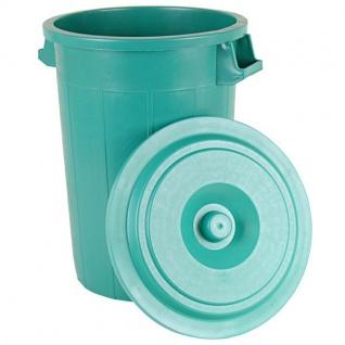 Universaltonne 70L Grün mit Deckel Regentonne Abfallbehälter Müllbehälter Tonne