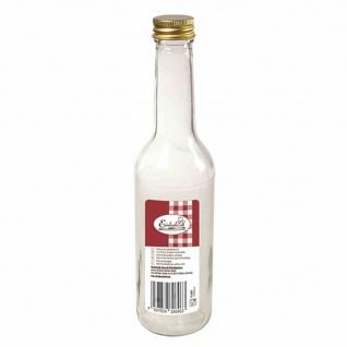 """Gradhalsflasche """" Einkochwelt"""" 350 ml mit goldener Verschraubung"""