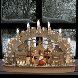 LED Winterdorf aus Holz Fensterdeko Weihnachtesdeko Krippe Figuren Tischdeko
