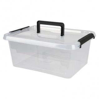 Box-One 12, 5 L Aufbewahrungsbox mit Deckel Tragegriff Clipverschlüsse Ordnung - Vorschau 3